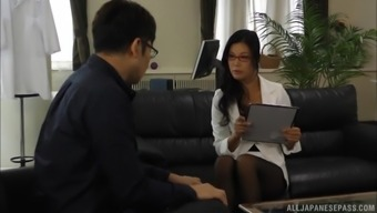 Katase Hitomi Is A Hot Milf With Glasses Craving A Big Boner