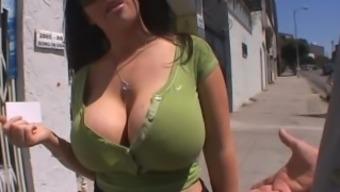 Daphne Rosen - Nude Model Strips, Teases And Fucks