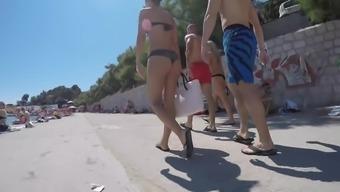 Amazing Two Crotian Asses In Bikini