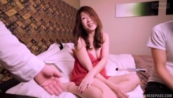 Mature Japanese Woman Spreads Her Legs For A Lover'S Cock
