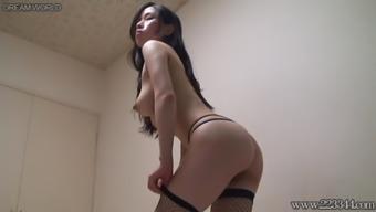 Peeping The Japanese Bondage Suit Girl , Topless.