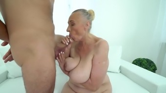 Old Bitch Still Is In Need Of Sexual Attention From Young Man