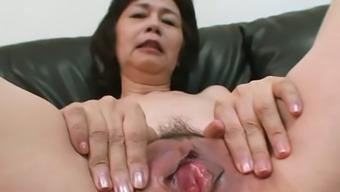 Michiyo Fukumoto Wants Her Lover To Make Her Muff Wet With Her Vibrator