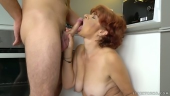 Donatella Is Lusty Mature Redhead Who Loves To Suck Strong Big Cock