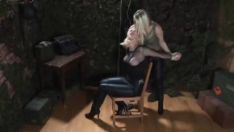 Leather Girls Bondage Duel