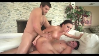 A.C Oiled Up Double Anal Fuck Whore