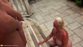 Mature Bbw Aunt Suck And Fuck 5 Young Boys