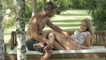 Foot Fetish Dude Fucks Beautiful Angel Tiffany Tatum In The Garden