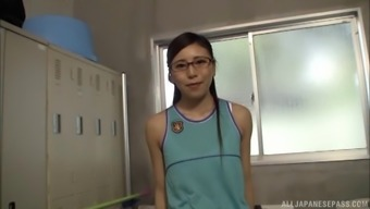 Hitomi Madoka Is A Girl With Glasses Who Loves To Masturbate
