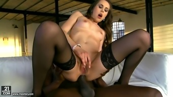 Abrill Gerald Loves Anally Riding That Huge Black Dick