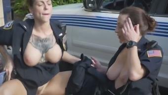 Police Whores Suck And Ride A Big Black Cock
