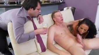 Sofi Ryan Insane Cuckold While Hubby Watching Her