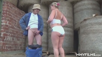 Village Mature Whore Manuela Hooks Up With One Kinky Farmer