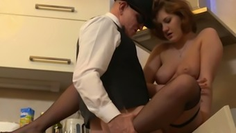 Ardent Huge Breasted Cowgirl Gabriella Daniels Is Topping Fat Cock In Kitchen