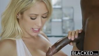 Capri Cavanni In A Sexy White Lingerie Loves To Deepthroat Big Black Cock