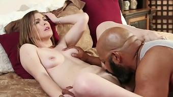 Pallid Hottie Ella Nova Works On Really Huge Black Dick Of Her Neighbor