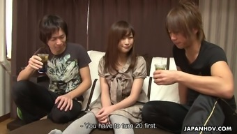 Spoiled Japanese Babe Shino Tanaka Is Fucked By Two Co-Workers