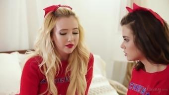 Samantha Rone And Keisha Grey Are Cute Cheerleaders Who Want To Fuck
