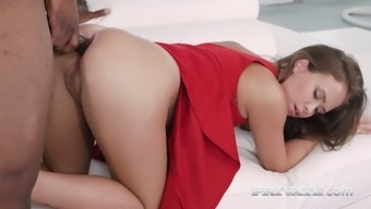 Bbc Fucks Charming Lady In Red Dress Jenny Ferri And Makes Her Anus Destroyed