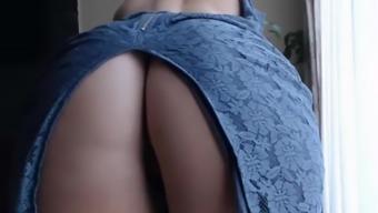Sexy Secretary Jiggling Thighs Fat Ass Cellulite