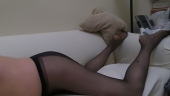 He Just Loves Stroking His Cock Dressed As A Girl