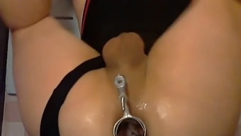Speculum Gaping His Ass Wide Open For Some Experimentation