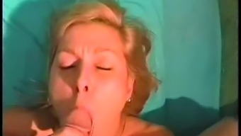 Amateur Blonde Milf Spreads Her Gaping Vagina And Blows A Cock