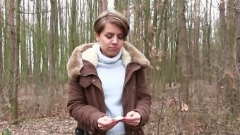 Outdoor Sex In The Woods With Sasha Zima For Cash