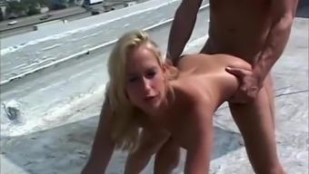 Hottest Pornstar Sophie Evans In Fabulous Blonde, Outdoor Sex Scene