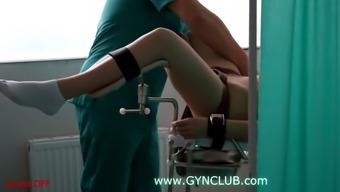 Girl'S  On The Gynecological Chair