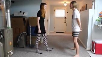College Girl Girl Ballbusting Her Boyfriend