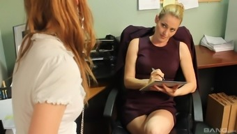 Lesbians Daisy Layne And Pepper Kester Having Sex At The Office