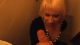 Pov Quickie In A Public Bathroom With A Beautiful Blonde
