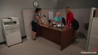 Office Girls Lock In The Room And Go For Some Bdsm