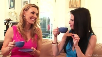 Tanya Tate And Veronica Avluv Join A Horny Lesbian For A Sex Game