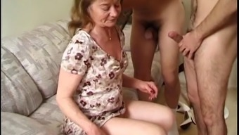 Lucky Mature Chick Is Surrounded With Cocks Just How She Always Wanted
