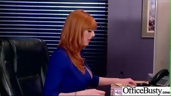 (Lauren Phillips) Big Tits Horny Office Girl Get Nailed Hardcore Vid-12