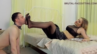 Amazing Foot Fetish Femdom Doll Receiving A Superb Pussy Licking In Bdsm Shoot