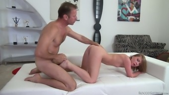 Sexy Blond Haired Nympho Blows Big Cock Before Doggy Analfuck