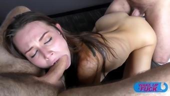 Adorable Sweetie Slams Her Ass On The Older Schlong