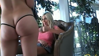 Ugly Blonde Milf Shows Off Her Ass In Black Thongs At Home Just For You