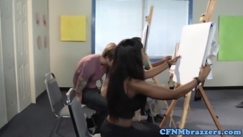 Dom Cfnm Teacher Fucked Rough In Threesome