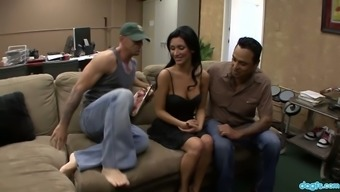 Whore Wife Adrianna Rossi Rides Big Dick In The Presence Of Her Cuckold Husband
