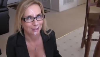 Blonde Milf Gives Pov Blow Job