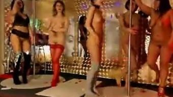 Amateur Blonde Lesbians In A Group Sex