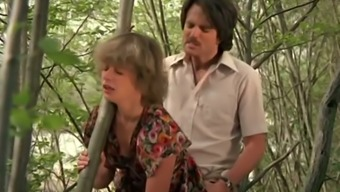Naughty White Lady In The Bushes Getting Pounded In Doggy Style