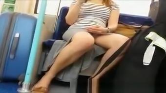 Nice Teen Train Upskirt