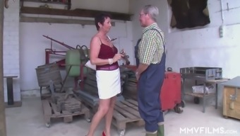 Village Whore Erica Lures Grey Haired Farmer And Rides His Strong Cock
