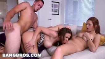 Bangbros - Stepmom Kylie Rogue Threesome With Teen Sasha Summers