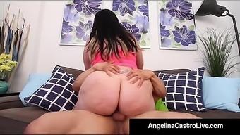 Puerto Rock Fucks Bbw Angelina Castro'_s Wet Cuban Pussy!
